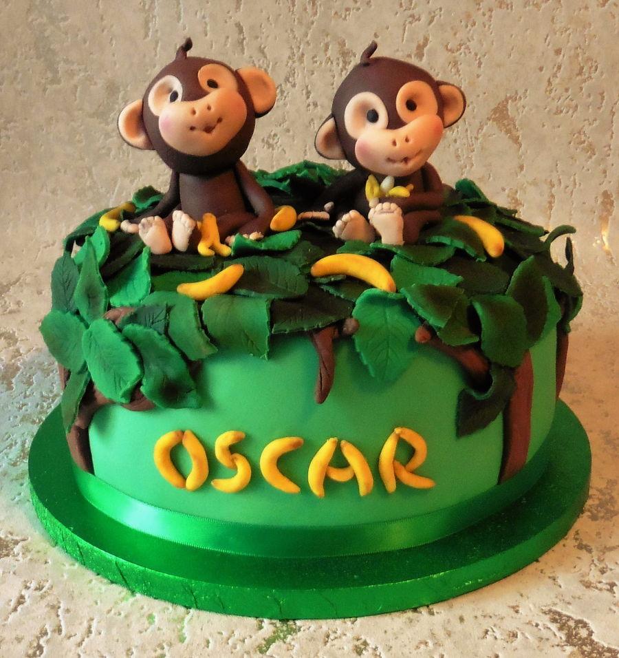 First Birthday Cake Monkey