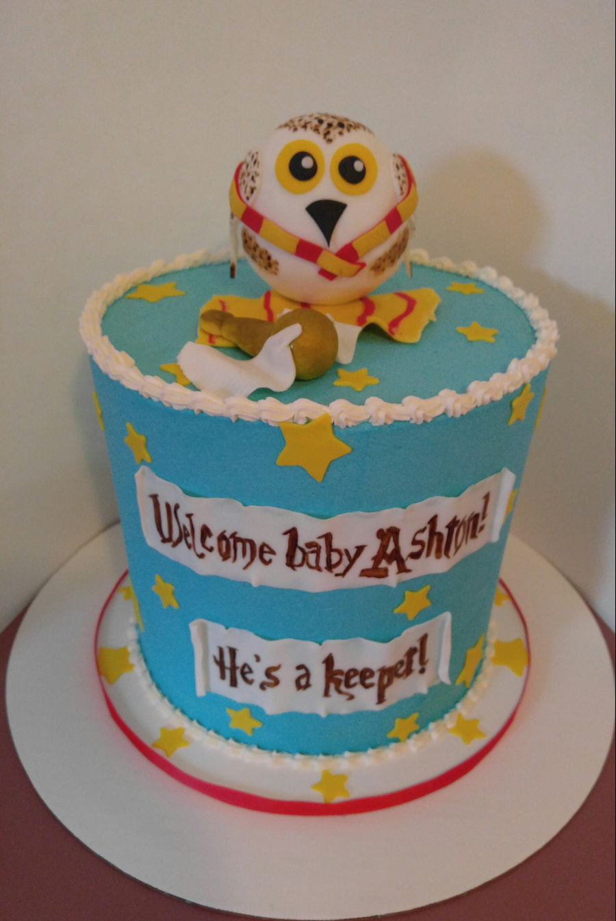 Harry Potter Themed Baby Shower Cake Cakecentral