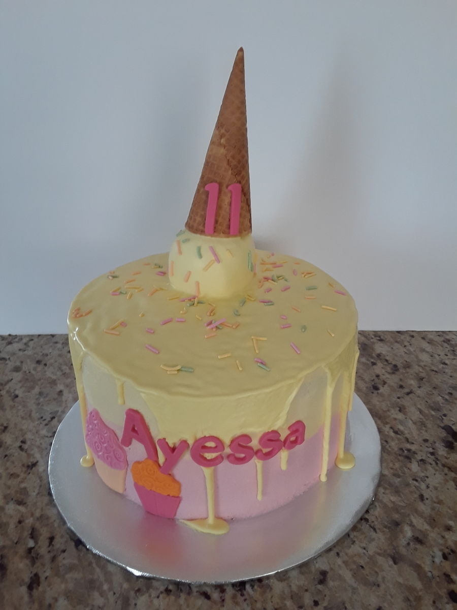 Ice Cream Cone Birthday Cake On Central