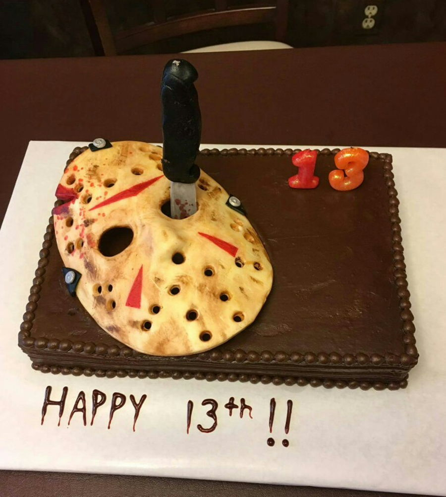 Jason Voorhees Friday The 13Th Mask Birthday Cake on Cake Central