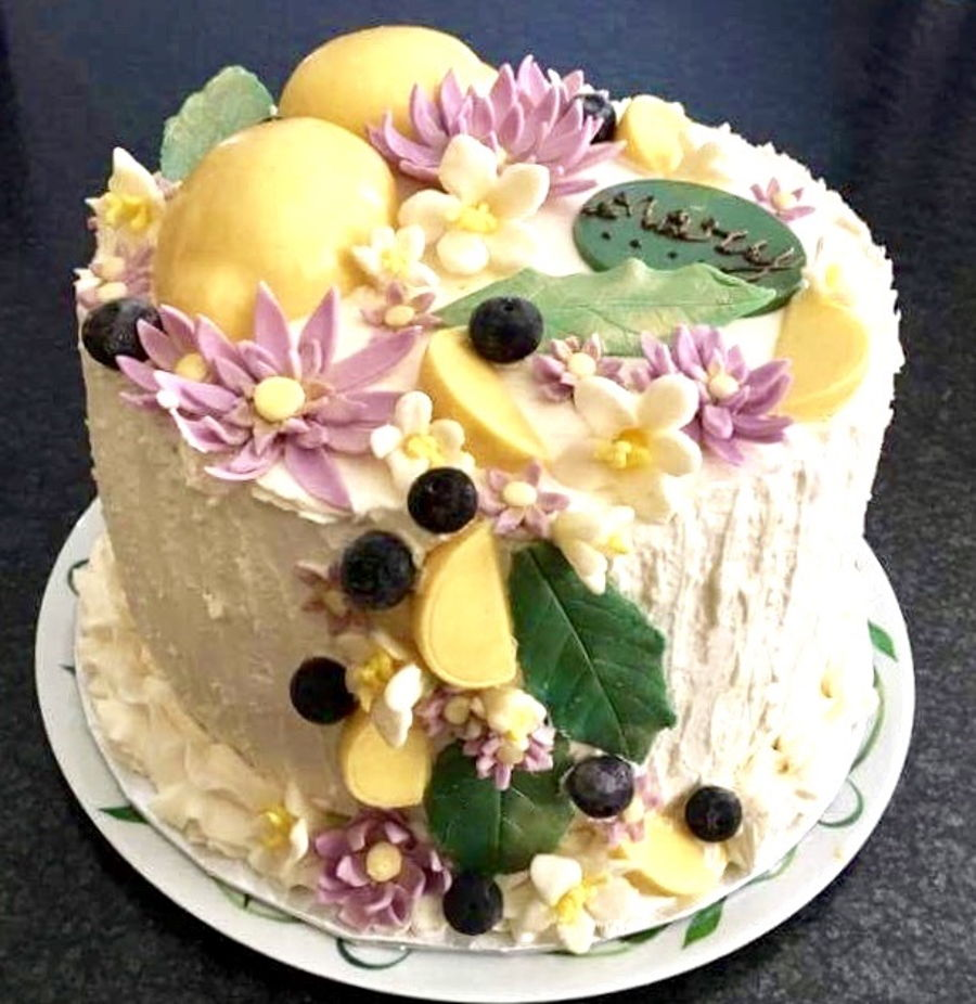 Lemon Blueberry Birthday Cake Cakecentral