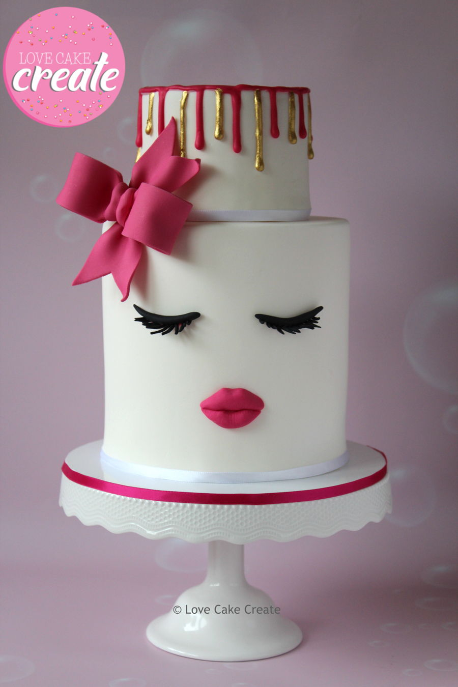 Lips And Lashes Cake Cakecentral