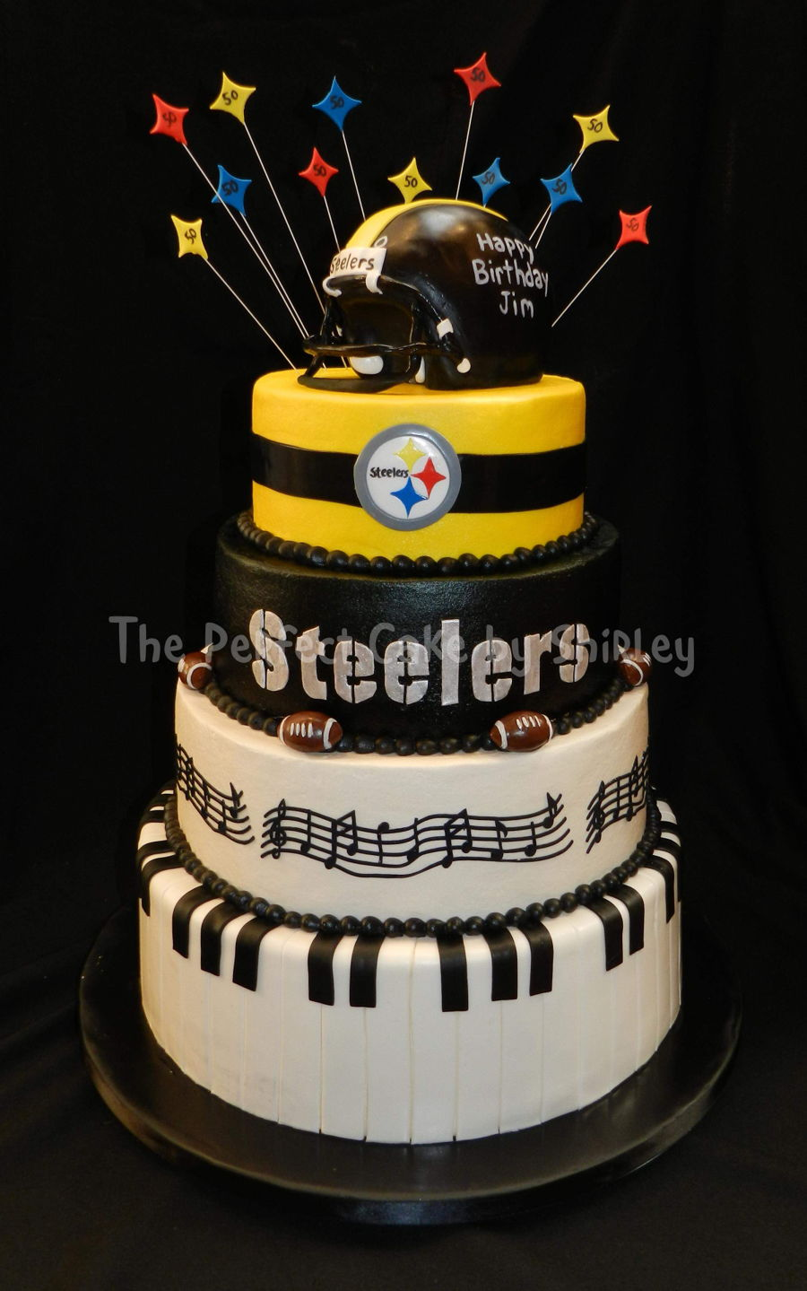 Marvelous Pittsburgh Steelers Music Cake Cakecentral Com Funny Birthday Cards Online Fluifree Goldxyz