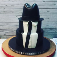 Blues Brothers Cake 3 tier fondant Blues Brothers