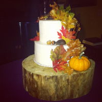 Buttercream Fall Cake Nothing better than a simple fall buttercream cake adorn with all things Fall!