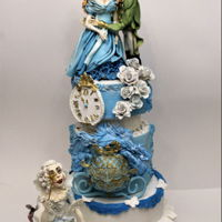 Cinderella Cake This is a birthday cake , I use modeling and bas relief tecniche , it's all handmade hope you like it!