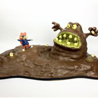 "Conker'S Bad Fur Day Cake Based on the 90's N64 game ""Conker's bad fur day"""