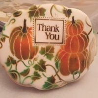 Fall - Thank You Basic Sugar Cookie w/royal icing/ stencil airbrushing