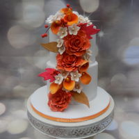 Fall Wedding Cake A fall wedding cake with bright fall colours..