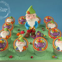 Gnome Cupcakes For Cake International Competition (Gold and 3rd place)