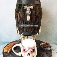 Halloween/octoberfest/birthday Birthday/Octoberfest/Halloween Cake!I was super stoked to make this Halloween/Octoberfest themed birthday cake. I had complete freedom. She...