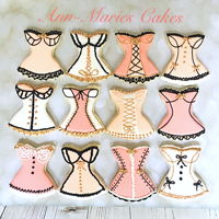 Lingerie Cookies Sugar cookies for a bridal lingerie shower