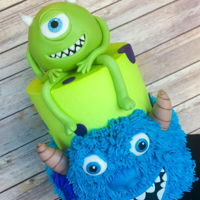 Monsters Inc Birthday Cake Mike and Sully of Monsters Inc. birthday cake.