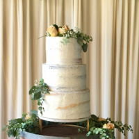 Naked Wedding Cake Sweet Naked Cake or should I say Semi Naked Cake for a Wedding
