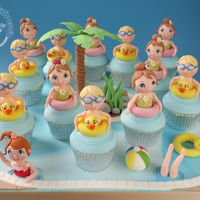 Pool Party Cupcakes Made for Cake International Competition (Gold Award)