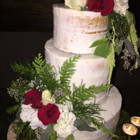 Semi Naked Wedding Cake With Fresh Flowers Semi Naked Wedding Cake with Fresh Flowers