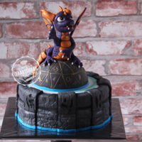 Skylanders Spyro - Skylander cake for an eight year old boy.I just love making boys-cakes!