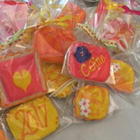 Summer Graduation Cookies Basic sugar cookie with bright colored designs