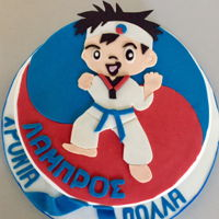 Taekwon-Do Cake Lemon cake with white chocolate buttercream filling Design credit goes to Marniela's beautiful creation: https://www.cakecentral.com/...