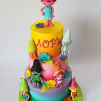 Trolls Cake Trolls cake https://www.facebook.com/Sugar.Magic.by.An/