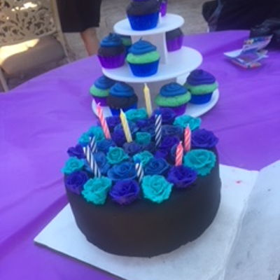 Black & Purple B-Day Cake
