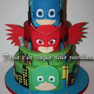 Pj Mask Cake Decorating Photos