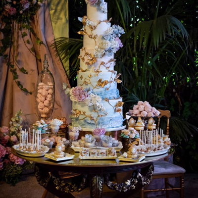 Romantic Watercolour Wedding Cake This is one of my favourites. the birds were so much fun to make, and I got to play with colours I am rarely ever asked to use for wedding...