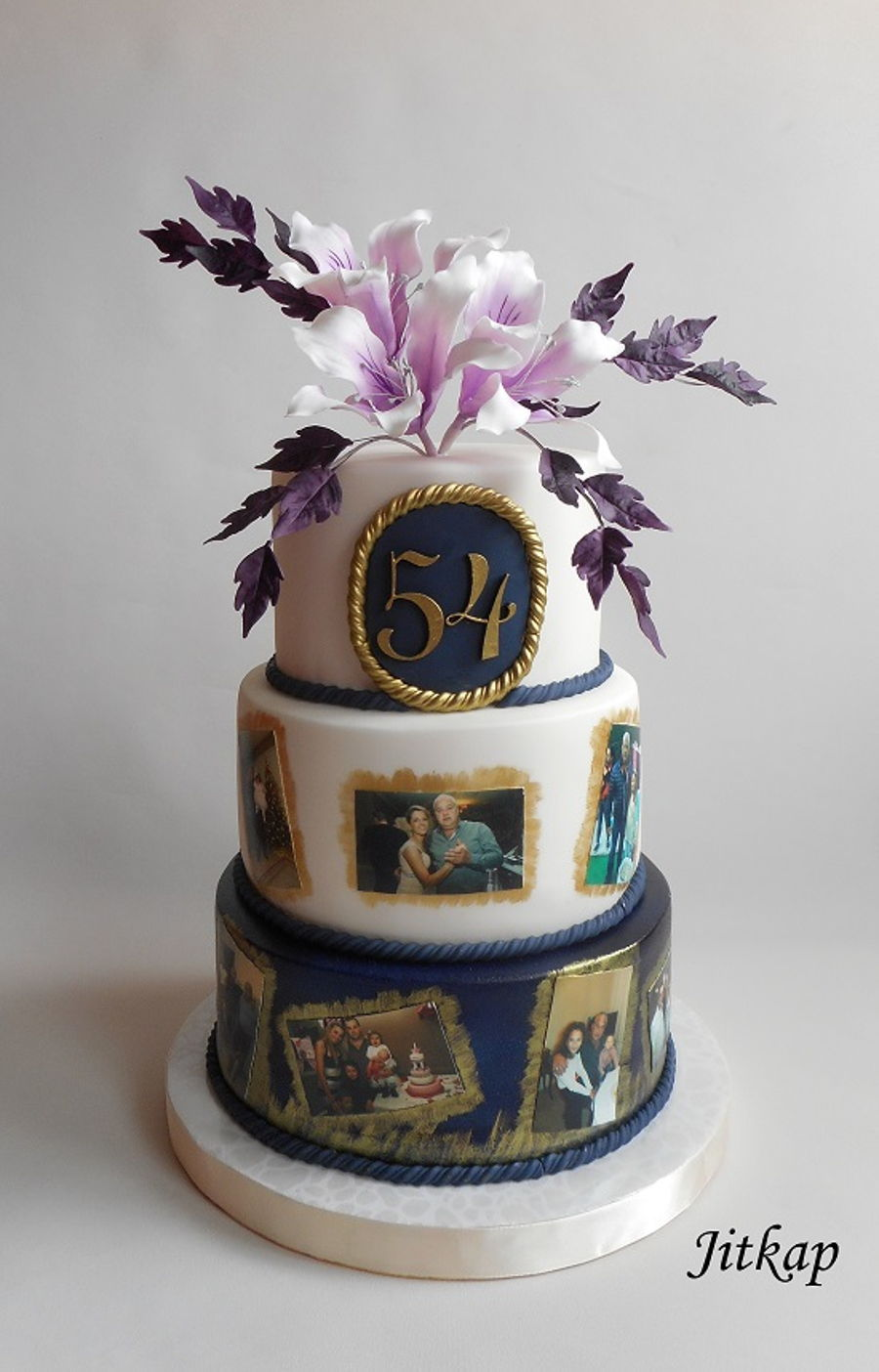 Birthday Cake With Bauhinia And Eddible Photos on Cake Central
