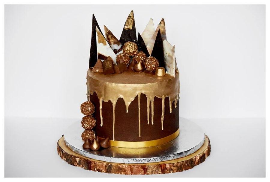 Drip Amp Shards Anniversary Cake Cakecentral Com