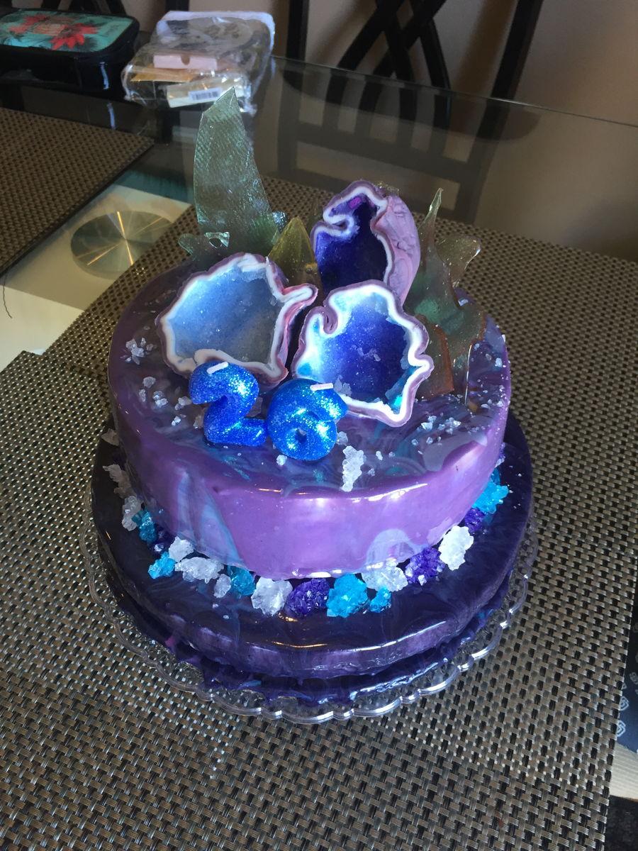 Mirror Glaze Cake Lady