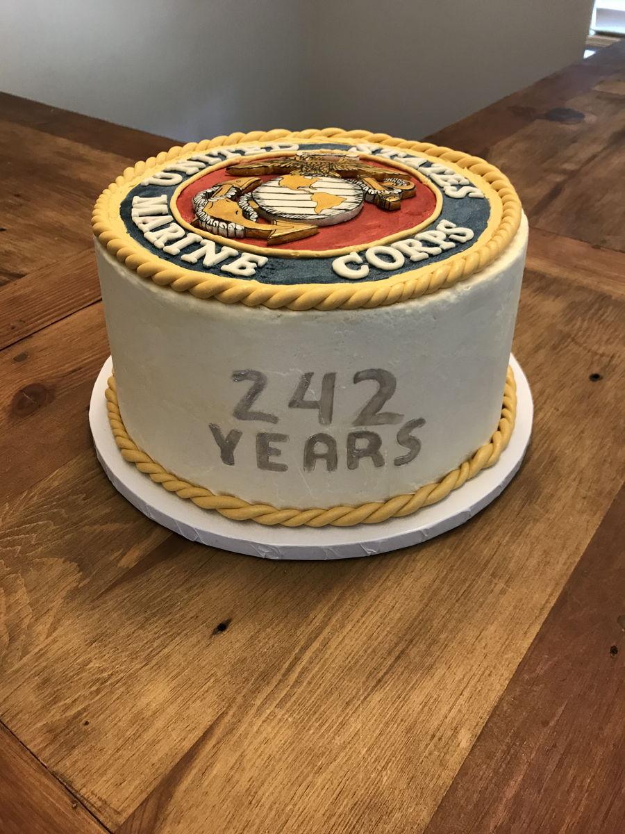 Stupendous Marine Corps Birthday Cake Cakecentral Com Birthday Cards Printable Trancafe Filternl