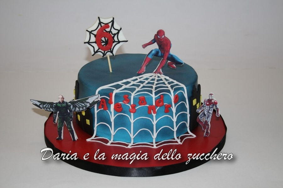 Spiderman Homecoming Cake on Cake Central