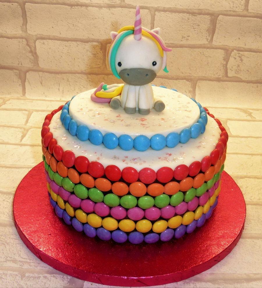 Unicorn Rainbow Birthday Cake CakeCentralcom
