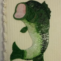 Big Fish I made this large mouth bass and I think it's perfect for guys birthday cake or especially for a grooms cake.