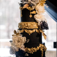 Black Is Back A 5 tier birthday cake I made for a luxury Washington DC event this weekend. The cake features elegant bas relief tiers, ornate molded...