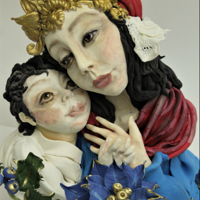 Christmas This is my sculpture made from modeling paste , it's my piece for sugar art collaboration, hope you like it!
