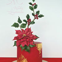 Christmas Cake Christmas red cake Poinsettia