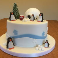 Christmas Cake Always make a rich fruit cake for Mom and Dad at Christmas - decided to have a fun one this year