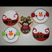 Christmas Sugar Cookies These were the designs I settled on this year for my Christmas sugar cookies. The snowman and reindeer are both designs by Jill FCS. The...