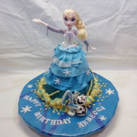 Elsa Birthdaycake inside, AppleChocolat cake with citronbuttercream