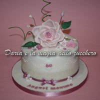 Flower Rose Cake Cake with rose in gum paste