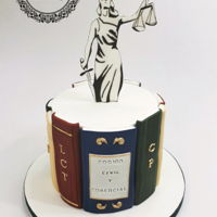 Graduation Cake For A Lawyer I made this design for a newly graduated girl. 2d books with a gumpaste topper.