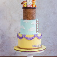 Hot Air Balloon Birthday Cake Hot air balloon birthday cake