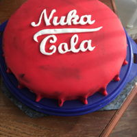 Nuka Cola - Fall Out 4 Bottlecap - Nuka Cola from Fall Out 4Fondant