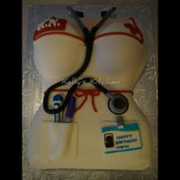 Nurse's Birthday Cake 40th birthday cake for a lactation nurse. Her coworkers sent me an image of what they were looking for and I added a few different details...