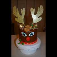 Rudolph Cake By no means an original design, as these Rudolph cakes seem to be every bit as popular as the unicorn cakes they are modeled after, but...