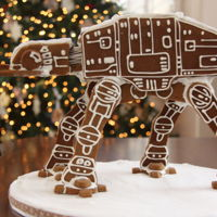 Star Wars Gingerbread At-At Star Wars Gingerbread AT-AT. Thanks to Cakes By ChoppA for the AT-AT template.