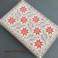 "Winter Blanket / Sweet Prodigy This needlepoint sugar cookie is approximately 8 3/4"" x 6"" (22 x 15cm) or 97 x 65 rows (6305 dots) and took approximately 2 days..."