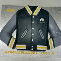 Year 6 Graduation Cake - School Jumper The year 6 students voted that they would like their new school jumper for their graduation cake this year. I have been making the end of...