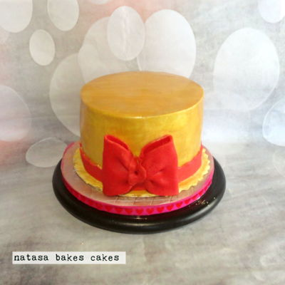 Gold And Red Cake